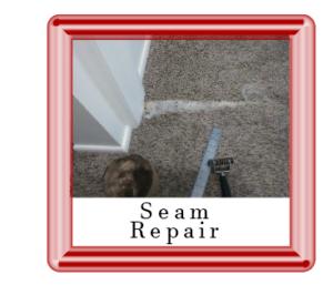 Carpet seam that needs repaire